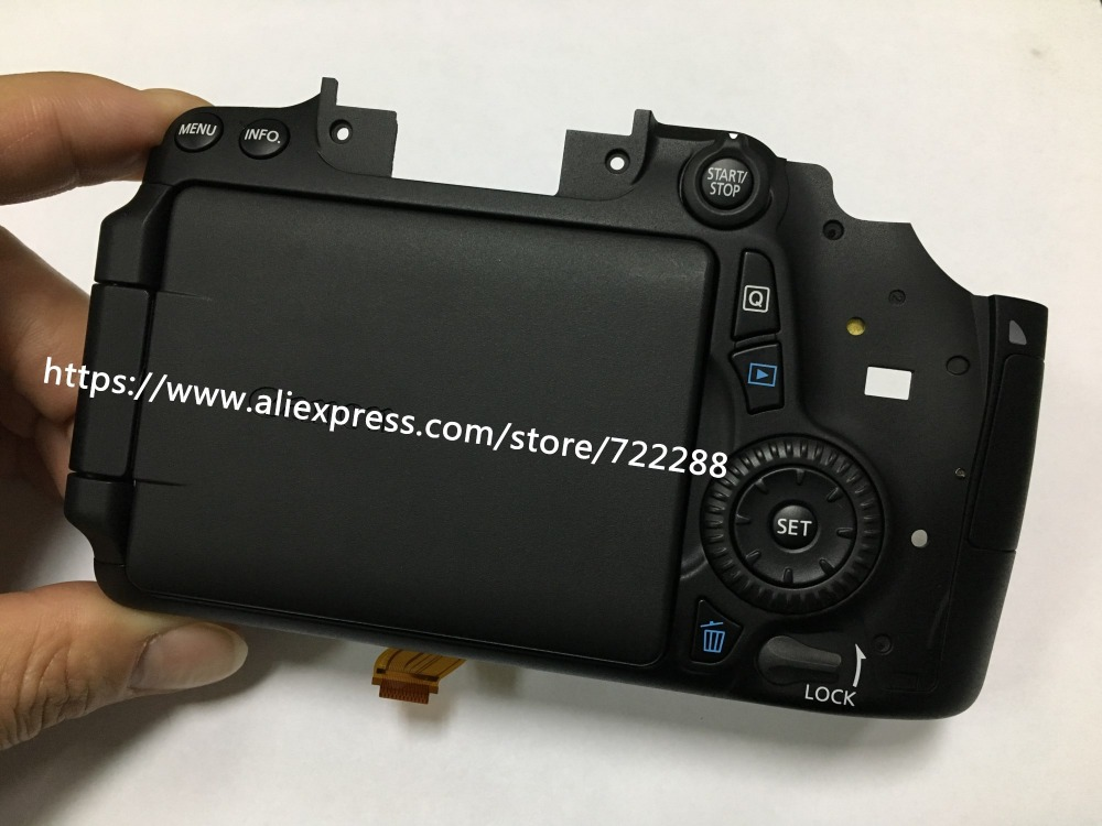 Repair Parts For Canon EOS 70D Rear Shell Back Cover Assy With LCD Display  Screen SD Card Door Button Flex Cable