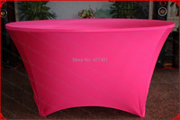 NO.21 Fuchsia Lycra/Spandex Table Cover/Tablecloth/Table Runner/Chair Cover for Wedding/Hotel/Banquet/Party/Home decor&textile