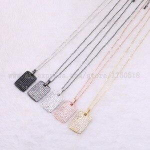 """Image 1 - 5 גידים מלבן שרשרת נוצץ סיטונאי תכשיטי שרשרת 18 """"תכשיטים אבן אבני חן תכשיטי מתנה עבור נשים 3526"""