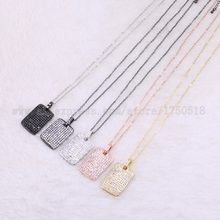 "5 strands rectangle necklace sparkly wholesale jewelry necklace 18"" costume jewelry stone gems jewelry gift for women 3526(China)"