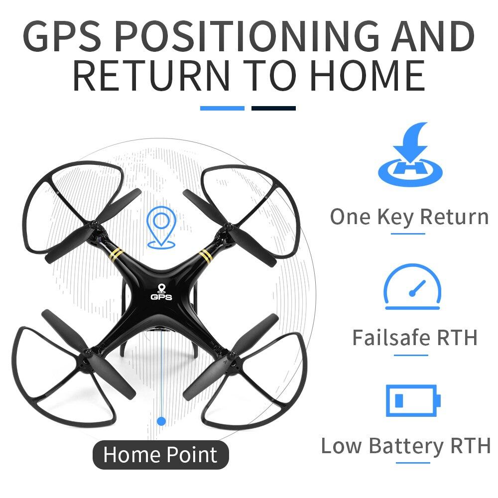 5G Wifi GPS RC طائرات بدون طيار مع 1080 P كاميرا GPS المواقع الارتفاع الانتظار اتبعني Quadcopter بدون طيار المهنية طويلة تحلق الوقت-في طائرات هليوكوبترتعمل بالتحكم عن بعد من الألعاب والهوايات على  مجموعة 3