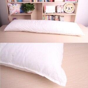 Image 5 - Uzun yastık iç beyaz vücut yastık pedi Anime dikdörtgen uyku şekerleme yastığı ev yatak odası beyaz yatak aksesuarları 150x50CM