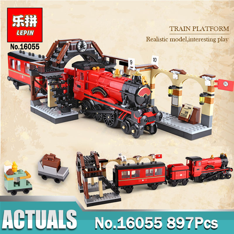 Lepin 16055 Harry Magic Potter Hogwarts Express Train Blocks Bricks Compatible legoing 75955 Building Model Gift Assembled Toys