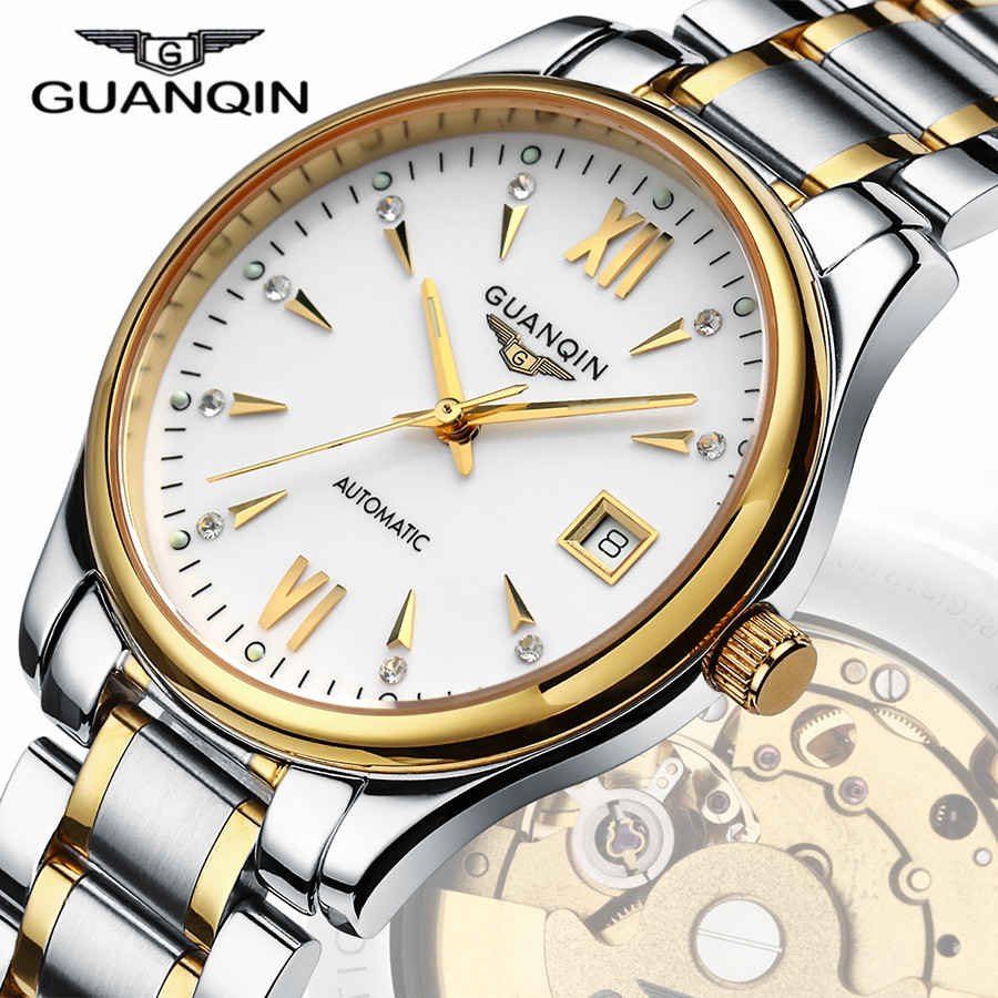 2016 New Brand GUANQIN Fashion Watch Men Waterproof Sports Military Watches Men s Luxury Analog Automatic
