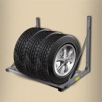 Plegable Camión Neumáticos Neumáticos Neumáticos de las Ruedas Garaje Almacenamiento de Ahorro de Espacio de Rack Montado En La Pared Holder Max Capacidad de Peso $ number Libras