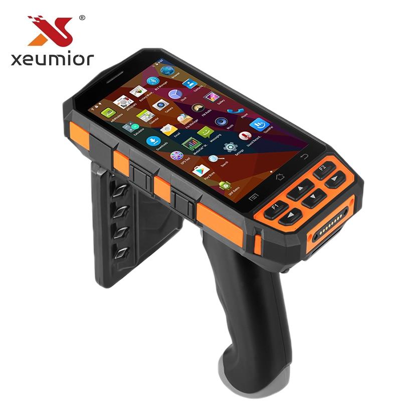 Industrielle Robuste Portable Mobile PDA Terminal de Collecte de Données Sans Fil De Poche PDA Code À Barres scanner android avec poignée de pistolet
