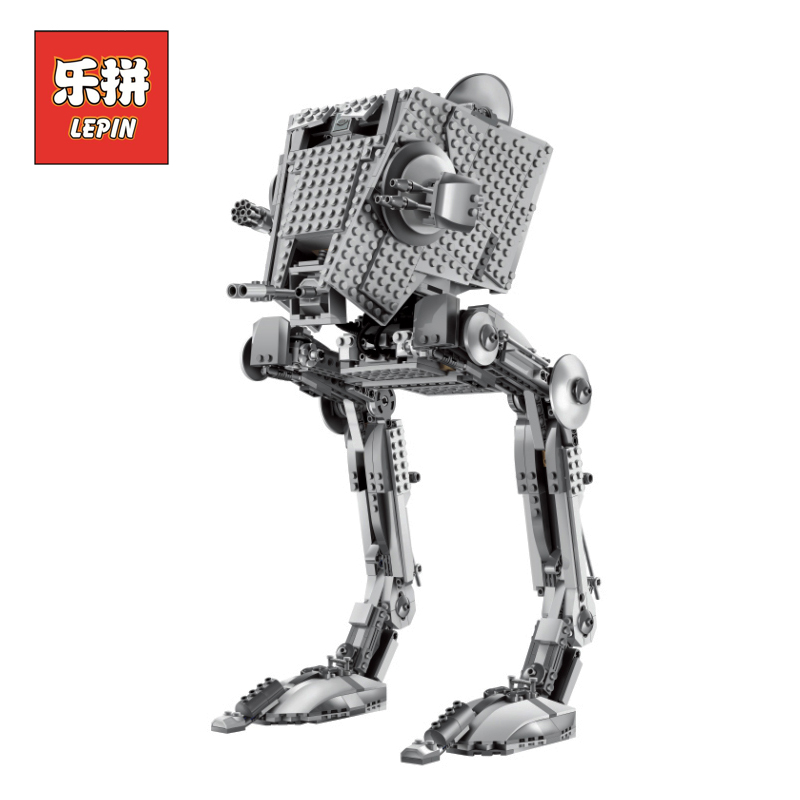 Lepin 05052 Stars Series War the Empire AT Robot ST DIY Alien Figure Model Building Kits Blocks Bricks Children Toys Christmas lepin 05077 stars series war the ucs rupblic set star destroyer model cruiser st04 diy building kits blocks bricks children toys