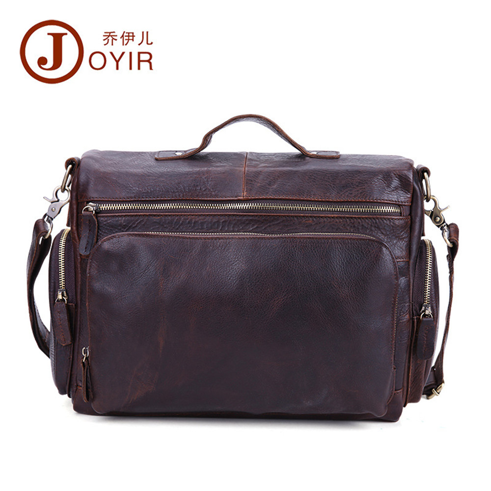 JOYIR Genuine Leather men briefcase Business male bags Laptop Tote handbag vintage crossbody bag famous brand Shoulder Bag vktery handbag men satchel pu leather male messenger crossbody bag business solid brown tote briefcase sling shoulder bags 3021