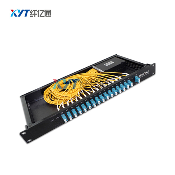 Telecommunication 16CH dual fiber rackmount DWDM mux 0.9mm 1m with lc connector dwdm equipment