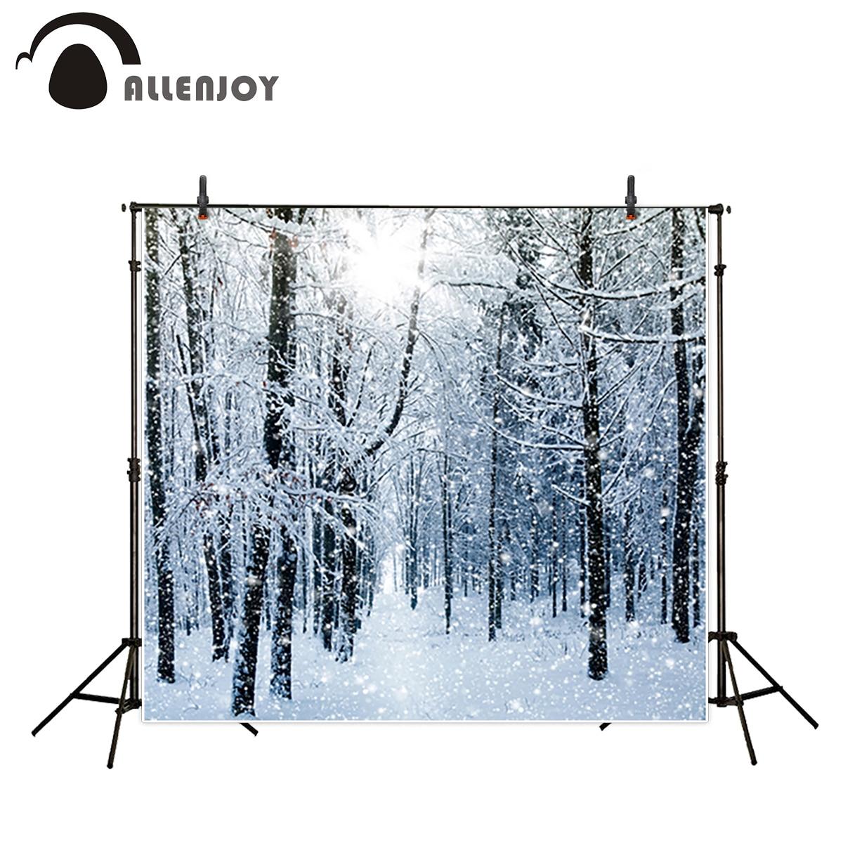 Allenjoy photography backdrop bokeh snow winter tree natual backgrounds photocall photo printer professional photocall защитный крем для рук атрикс купить