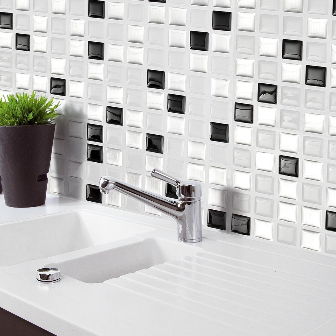 Mayitr Modern Self Adhensive 3D Brick Wall Stickers Tile Wallpaper DIY Wall Covering for Kitchen Bathroom