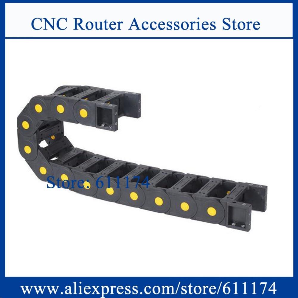 Aktiv 1000 Mm/pcs 1 Meter Drag Kette Nylon Innere Größe 45*130mm Schleppleine Gelb Dot Pin Offener Typ Kabel Drag Kette Heimwerker