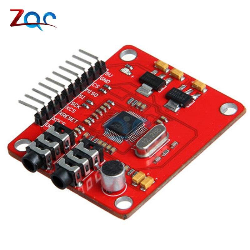 VS1053 VS1053B MP3 Module For Arduino UNO Breakout Board With SD Card Slot VS1053B Ogg Real-time Recording For Arduino UNO