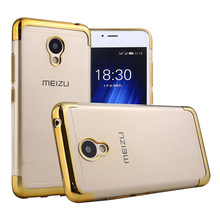 Case For Meizu M3S M3 S Mini Cover Luxury Two End Parts Plating Soft TPU Back Cover For Meizu M3S Mini Phone Bags & Cases