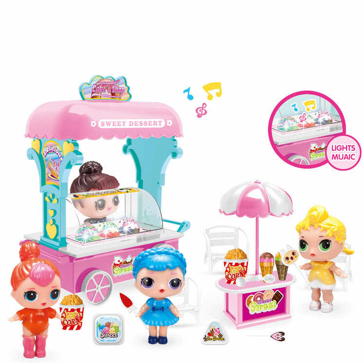 Diy Doll Toy Decoration Castle house  Princess Doll Park House Game Play set Decor Surprise Doll Toys for Educational child gift