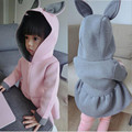 Baby Girls Autumn Jackets 2016 Fashion Hooded Cartoon Rabbit Girls Coats Children Space Cotton Outwear Kids Clothes For 1-4Years