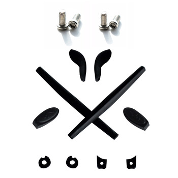 Mryok Replacement Rubber Kit Ear Socks & Nose Pads and 4 Pieces Installation Screws for-Oakley Juliet X-Metal-Multiple Options