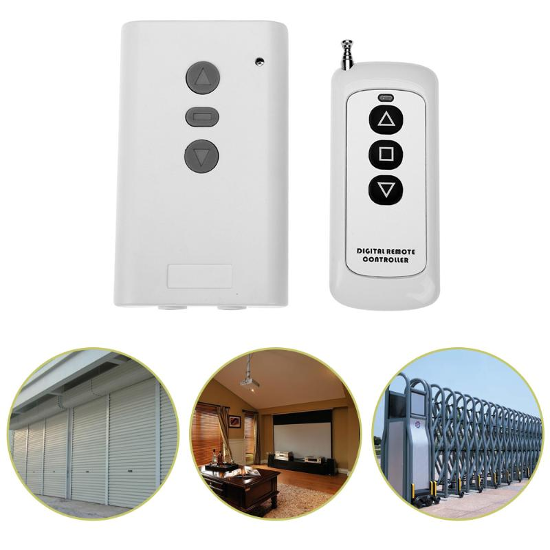 цена на Wireless Remote Control Switch DC 12V 220V Electrical Curtain Two Motor Reversing remote control switch with 315/433MHZ Type