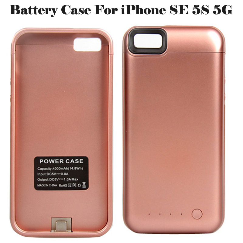 Iphone Se Battery Case | 4000 MAh For IPhone SE 5S Battery Case For Apple IPhone 5S SE 5 Smart Charger Cover For IPhone SE Power Bank Capa Fundas