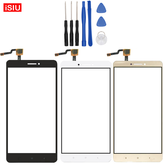 6.44 inch For Xiaomi Max / Mi Max LCD MiMax Touch Screen Lens Glass Outer Front Panel + Tools