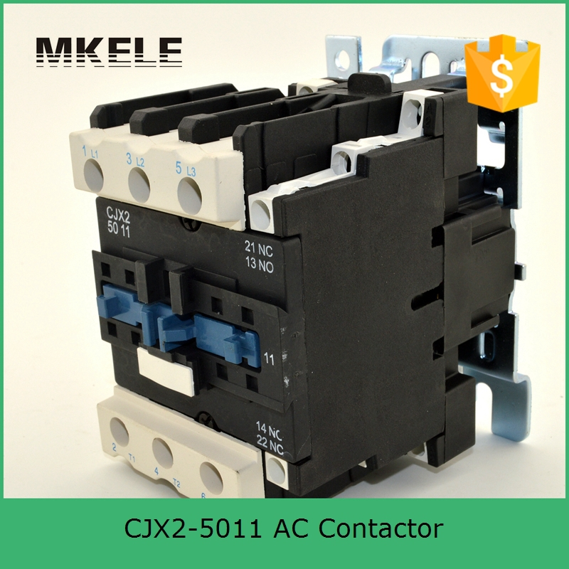 CJX2-5011 3P+NO+NC 50A rated 220v coil voltage three phase contactor telemecanique contactor with CE approved sayoon dc 12v contactor czwt150a contactor with switching phase small volume large load capacity long service life