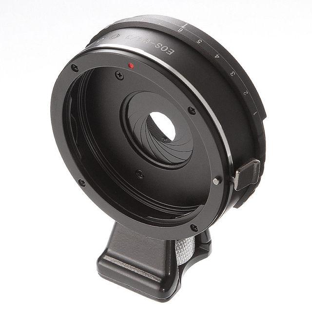 Tích Hợp Khẩu Độ Ống Kính Adapter Ring Dành Cho Canon EOS EF Ống Kính Để M4/3 Micro 4/3 Adapter GH5 GF6 G7 e M5 II E PL1 EM10