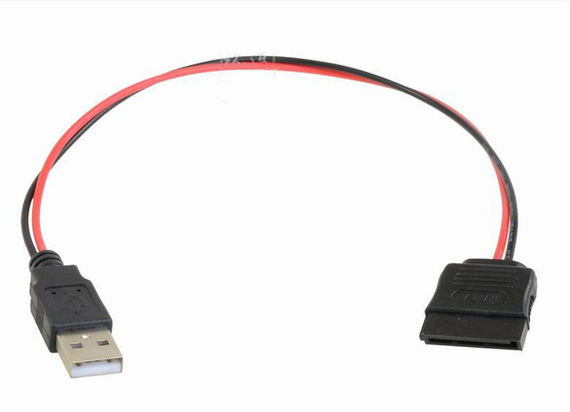 USB Man 15Pin SATA Vrouwelijke m/f Adapter Power Cable Cord 18AWG 20 cm voor Laptop 2.5 Harde Drive HDD SSD