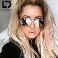 Dolce vision senhoras rodada aviador espelho sunglassees rosa das mulheres 2017 óculos de sol para as mulheres marca de luxo designer shades oculos