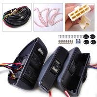 Car Universal Grey Power Window Switch Lock Kit 4 Rocker Switch 12V Fit For 4 Doors