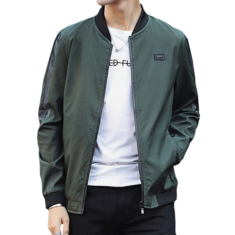 2018 Spring Autumn Men Casual Bomber Jacket Coat Men Hip Hop Solid Outerwear Streetwear  ...