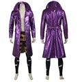Новый Хэллоуин костюмы для взрослых Харли Квинн Suicide Squad Джокер косплей костюм фиолетовый кожаная куртка Suicide Squad costume