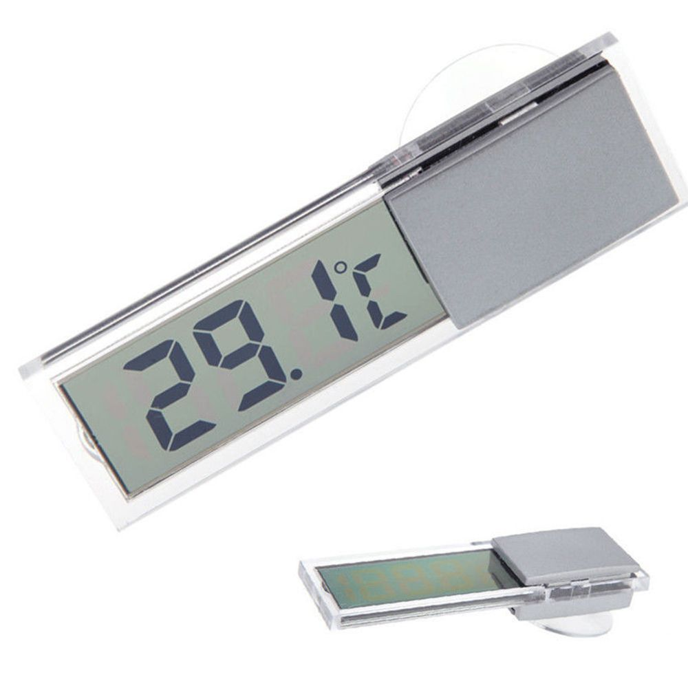 Mini Weather Station Digital Car LCD Display Digital Thermometer With Sensor 1.5V Thermometer Indoor Outdoor Home Daily Tools