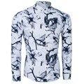 WSGJJ nuevo Otoño camisa de moda masculina de alta calidad ropa de los hombres camisa de manga larga de los hombres Delgados impresión camisa de los hombres ocasionales