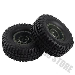 Image 5 - 1.9 inch 4Pcs/Set Rubber Tires&Plastic Wheel Rim for 1:10 RC Rock Crawler Axial SCX10 90046 AXI03007 Tamiya CC01 D90