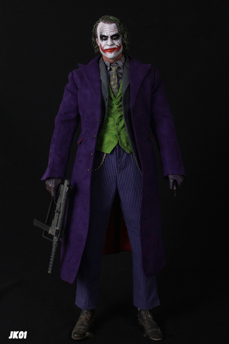 DAFTOYS 1//4 JOKER Purple Coat Delicate Overcoat Clothing Set Fit Hot Toy Figure