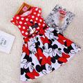 2016 Nuevas Muchachas Del Verano se Visten Princesa Tutu Bebé Minnie Mouse vestido de Punto Bebé Ocasional Paty Vestido para 2-6 Años Niño vestido