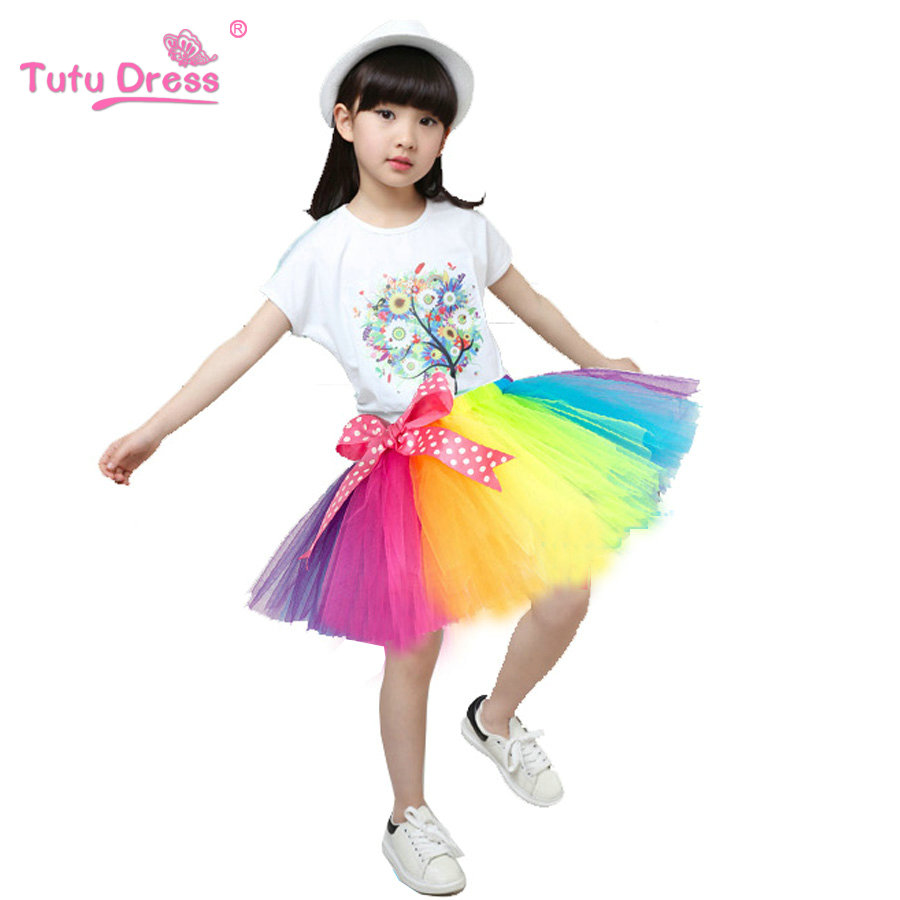 2018 Spring Autumn Mesh Long Baby Tutu Skirt More Color Princess Girls Skirts 2-12 Age C ...