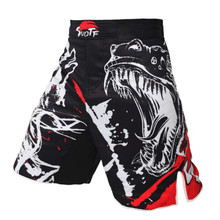 Crocodile Ink Style Domineering Screaming MMA Fitness Breathable Shorts Fight Boxing Tiger Muay Thai Cheap Mma Shorts Boxeo цена 2017