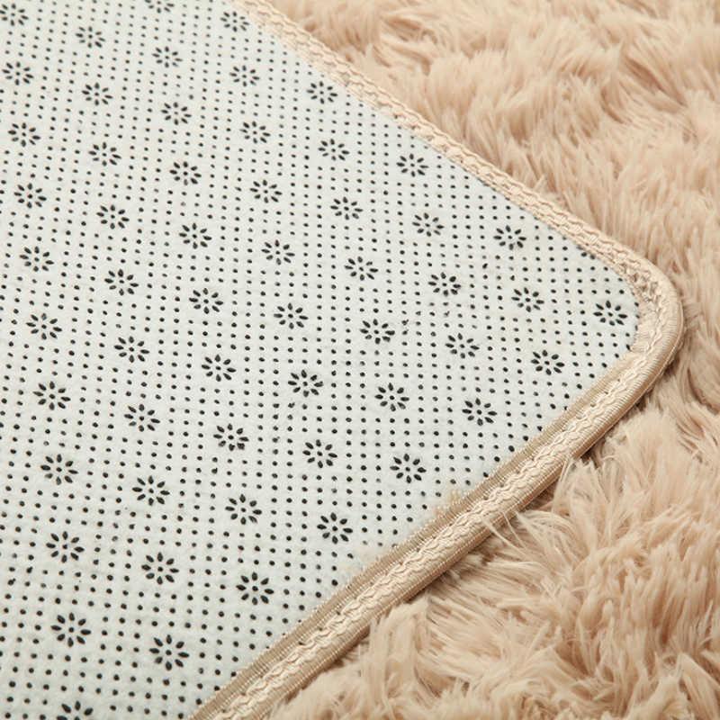 ソフトぬいぐるみアンチスキッド敷物快適な長方形屋内フロアマットふわふわモダンなリビングルームのカーペット子供のため