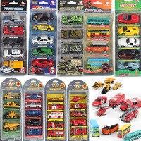 169 10 WARRIOR Alloy Toy Car Model Metal Barrowload Open The Door 5 Set