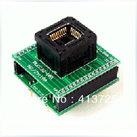 Ucos PLCC32 test block test burn ZY115A conversion adapter, original plcc44 to dip40 block adapter block cnv plcc mpu51 test convert burn