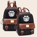 Kpop estilo diseñador de moda mochila de cuero mochila mochilas bolsa de viaje de corea mujeres bolsas escolares para adolescentes mochila bts