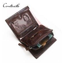 İletİşİm cüzdan erkek hakiki deri erkek cüzdan lüks marka kart tutucu moda bozuk para cüzdanı organizatör küçük cüzdan erkek cüzdan