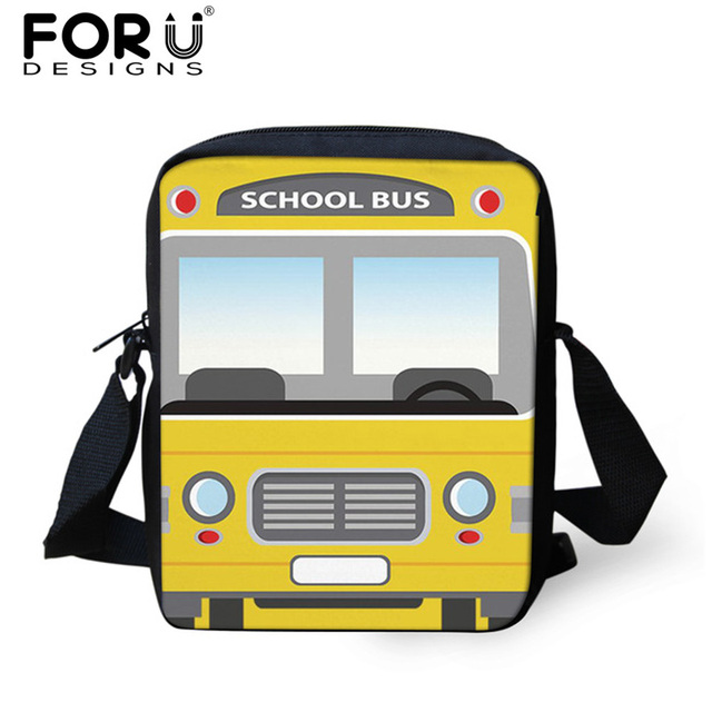 5d6f82c930 FORUDESIGNS Cartoon Bus Pattern Kids Girls School Bags Small 3D Camera  School Bag for Baby Boys Bookbags Children Schoolbags Bag