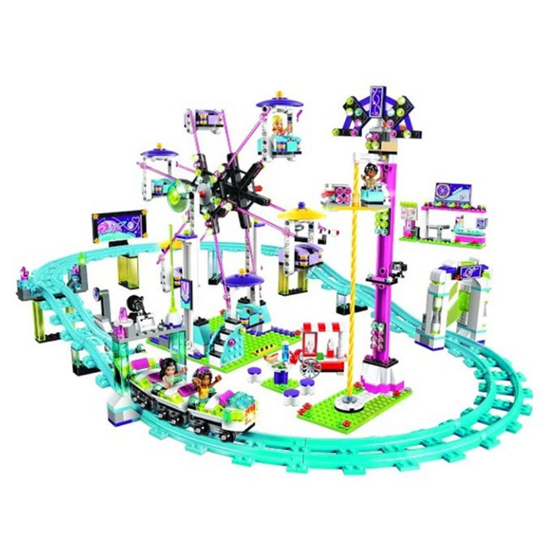ФОТО BELA 10563 Model building kits compatible with lepin city girls friend Amusement Park 3D blocks Educational model building toys