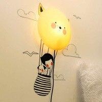 25 Вт стены Стикеры светодиодный ночник Съемный 3D DIY настенные Бумага Наклейки Бумага бра Новинка для маленьких Спальня мультфильм бра