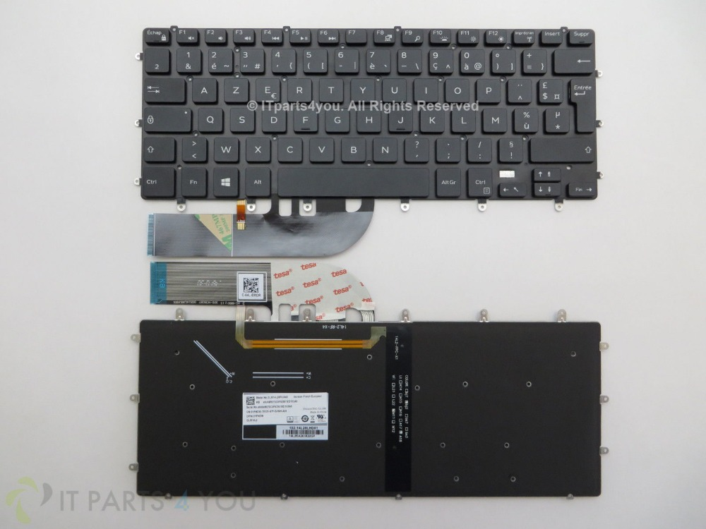 New notebook Laptop keyboard for Dell XPS 15 9550  Precision 5510 0YFNDW YFNDW backlit french/fr  layout