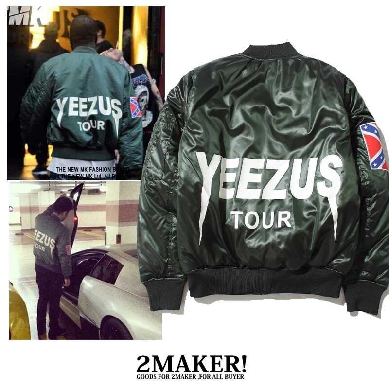 buy popular 20bba b5704 Coats   Jackets Clothing, Shoes   Accessories Mens Yeezus Tour Bomber Jacket  MA-1 Flight kanye ...