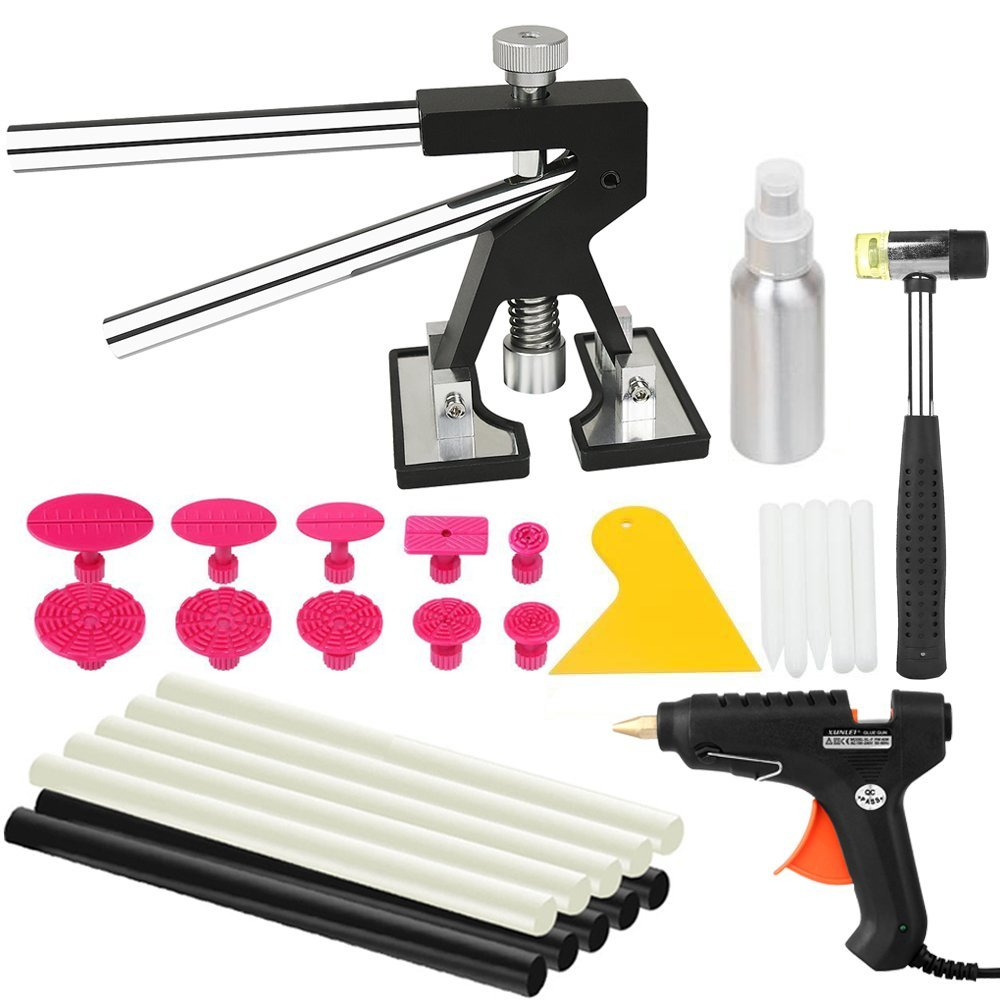Wcaro PDR Tools Paintless Dent Repair Tools Mini Lifter Dent Removal Kit Glue Puller Sets Tabs PDR Hot Melt Glue Gun 30f123 to 220f