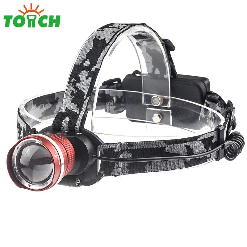 LED T6 Headlamp Headlight zoom lighting Light 18650 3xAAA Head Flashlight Torch Lantern Fishing Hunting Camping
